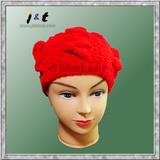 wholesale ladies' handknit beanie 18001