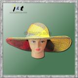 wholesale ladies' hand woven big brim hat 18001