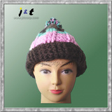 wholesale kids' hand knit winter beanie 18001