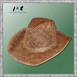 wholesale men's hand woven summer western hat 18001